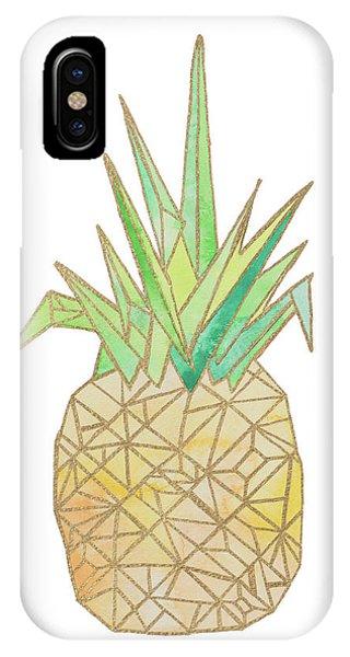 Geo iPhone Case - Origami Pineapple by Nola James