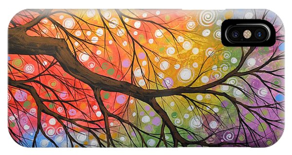 Original Abstract Painting Landscape Print ... Bursting Sky IPhone Case