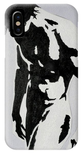 Original Black An White Acrylic Paint Man Gay Art -male Nude#16-2-4-17 IPhone Case