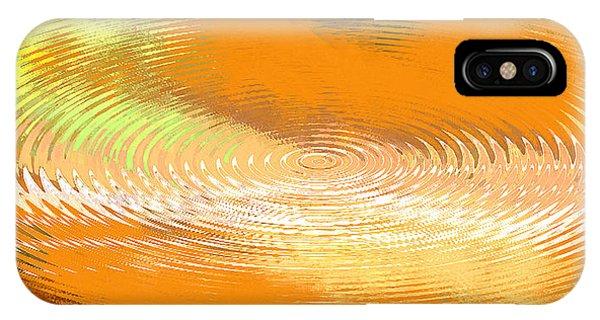 Original Fine Art Digital Abstract Galaxie Orange IPhone Case