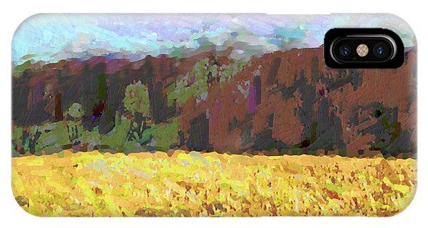 Original Fine Art Digital Autumn Fields Maryland Detail IPhone Case