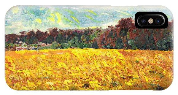 Original Fine Art Digital Autumn Fields Maryland IPhone Case