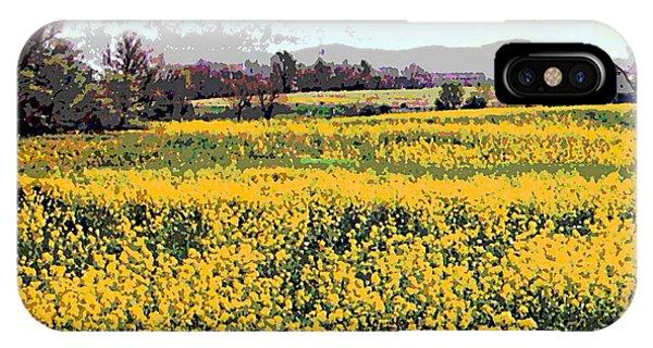 Original Fine Art Digital Fields Yellow Flowers Maryland IPhone Case
