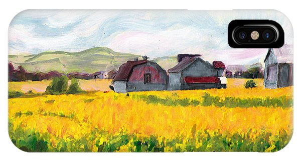 Original Fine Art Digital Springtime Fields Farm Maryland IPhone Case