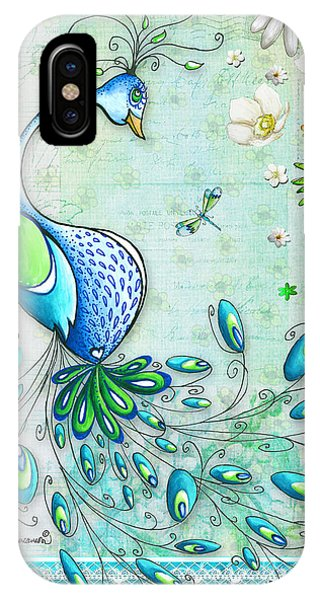 Peacock iPhone Case - Original Peacock Painting Bird Art By Megan Duncanson by Megan Duncanson