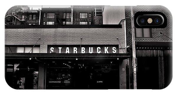 Original Starbucks Black And White IPhone Case