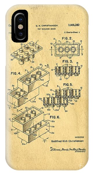 Original Us Patent For Lego IPhone Case