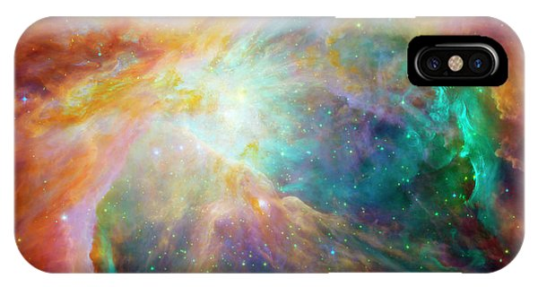 Infrared Radiation iPhone Case - Orion Nebula by Nasa/jpl-caltech/stsci/science Photo Library