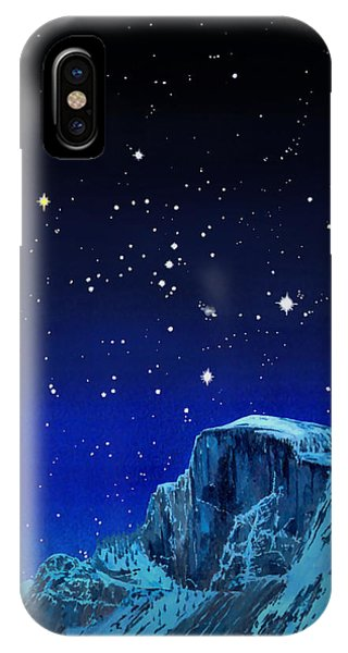 Orion Over Halfdome IPhone Case