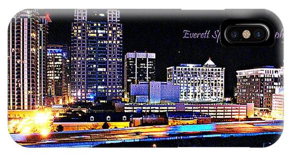 Orlando Skyline At Night IPhone Case