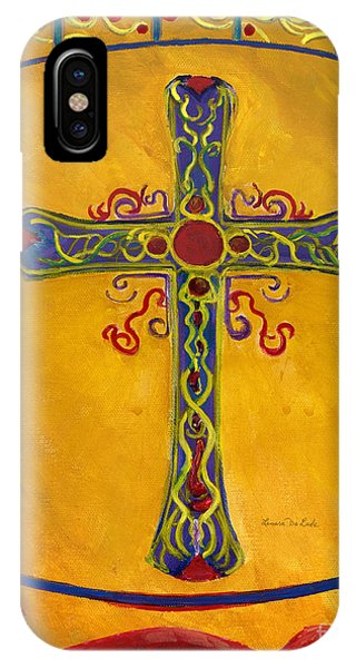 Ornamental Cross And Snake  IPhone Case