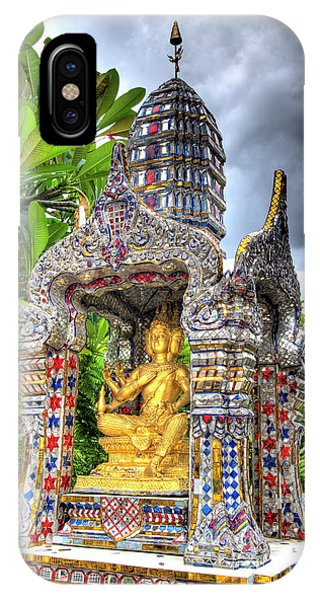 Silver And Gold iPhone Case - Ornate Buddhist Shrine, Wat by Jaynes Gallery