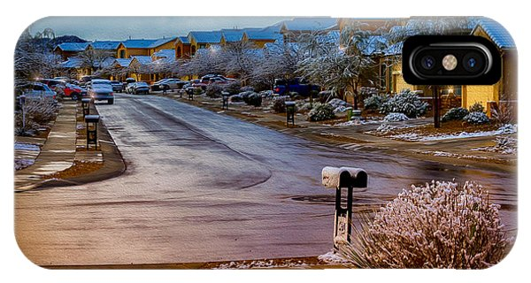 Oro Valley Winter No.54 IPhone Case