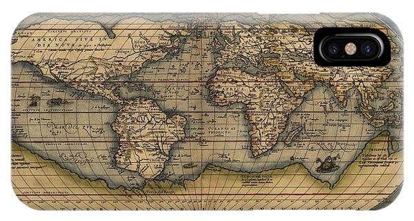Ortelius Old World Map IPhone Case