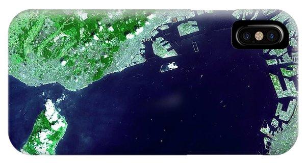 Kobe iPhone Case - Osaka Bay by Nasa/gsfc/meti/japan Space Systems And U.s./japan Aster Science Team