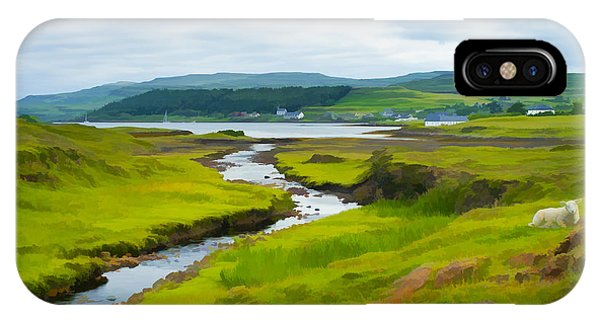 Osdale River Leading Into Loch Dunvegan In Scotland IPhone Case