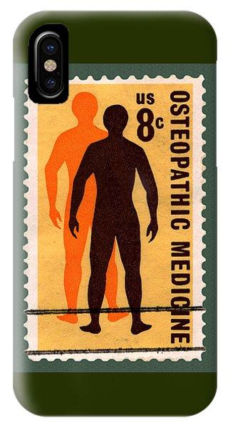 Osteopathic Medicine Stamp IPhone Case