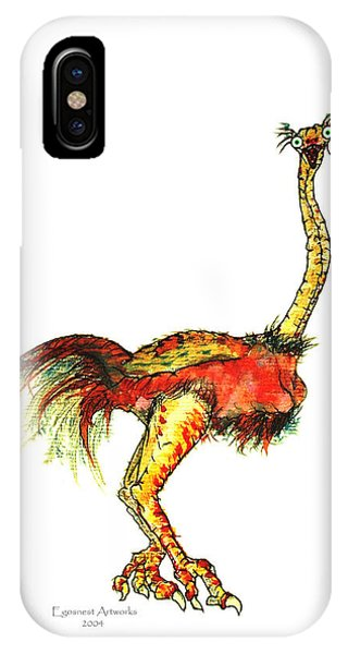 Ostrich Card No Wording IPhone Case