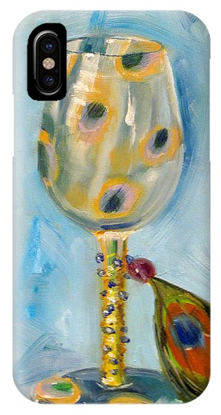 Ostrich Wine Glass IPhone Case