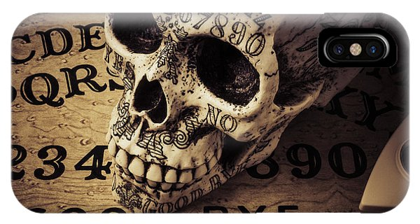 Illusion iPhone Case - Ouija Boards And Skull 2 by Garry Gay