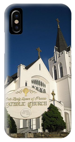 Our Lady Queen Of Peace Catholic Church Bootbay Harbor Maine IPhone Case