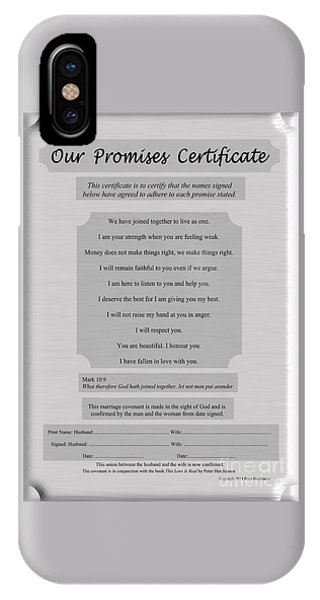 Our Promises Certificate IPhone Case
