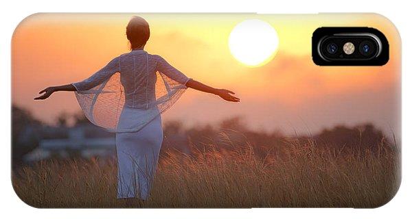Grass iPhone Case - Our Sunrise by Mikhail Potapov
