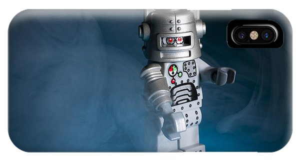 Robot iPhone Case - Out Of The Smoke by Samuel Whitton