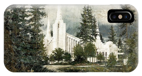 Out Of The Wilderness Portland Oregon Temple IPhone Case