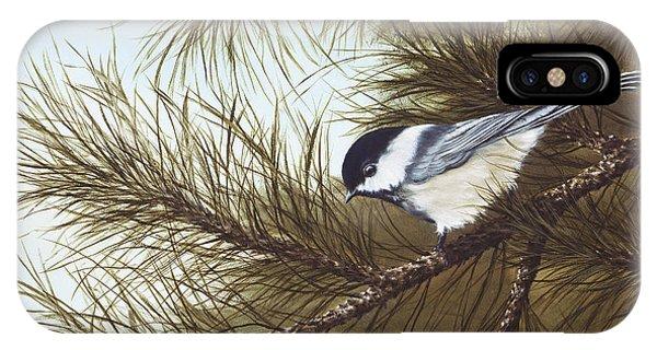 Chickadee iPhone Case - Out On A Limb by Rick Bainbridge
