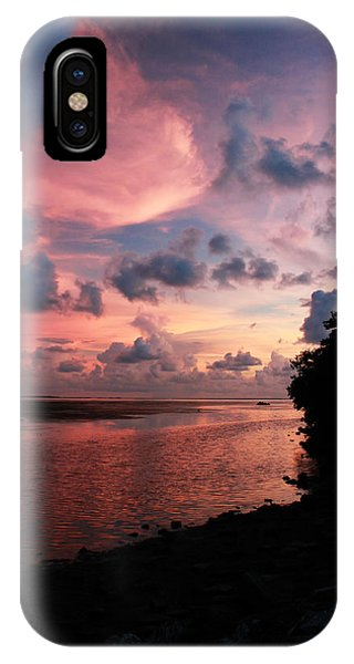 Out With A Roar Sunset Over Water Tarpon Springs Florida IPhone Case