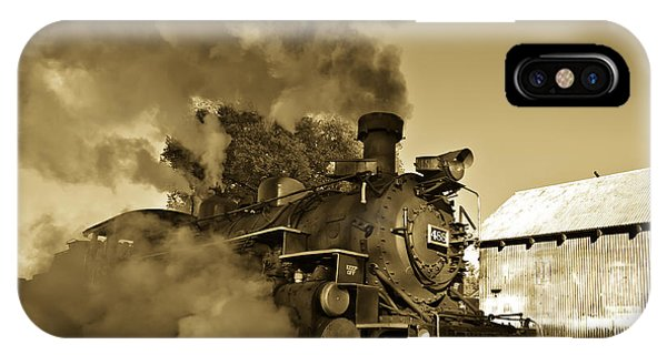 Railroad Signal iPhone Case - Angry Iron Horse by Robert Frederick