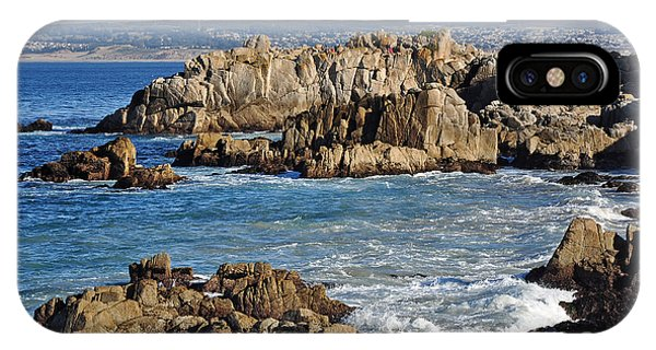 Outcroppings At Monterey Bay IPhone Case