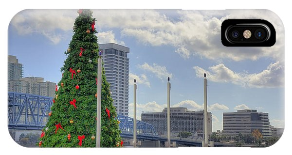 Outdoor Chtristmas Tree Cityscape IPhone Case