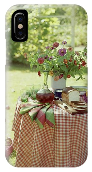 Outdoor Lunch In The Shade Of A Tree IPhone Case