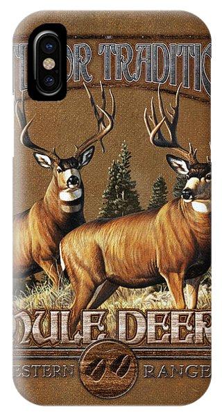 Mule Deer iPhone Case - Outdoor Traditions Mule Deer by JQ Licensing
