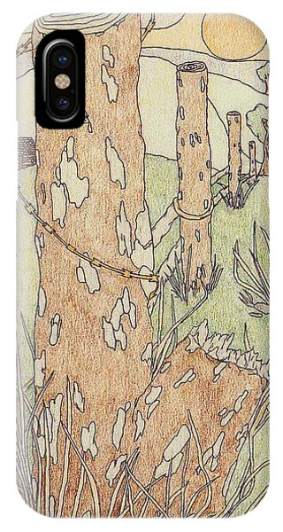 IPhone Case featuring the drawing Outdoors by Jason Girard