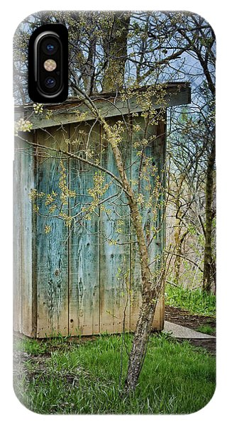 Toilet iPhone Case - Outhouse In Spring by Nikolyn McDonald