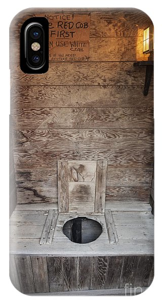 IPhone Case featuring the photograph Outhouse Interior by Bryan Mullennix