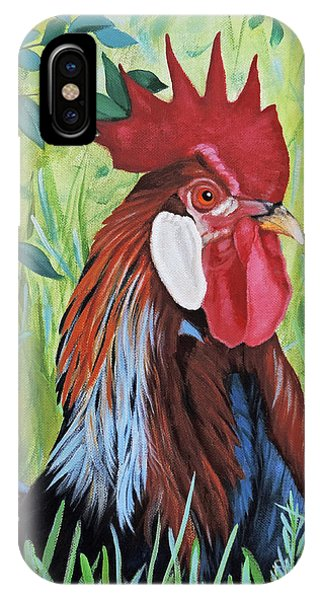 Outlaw Rooster IPhone Case