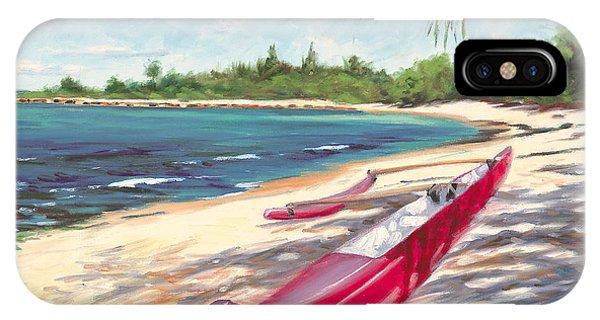 Oahu Hawaii iPhone Case - Outrigger - Haleiwa by Steve Simon