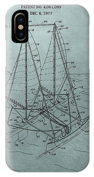 Outrigger Sailboat Patent IPhone Case