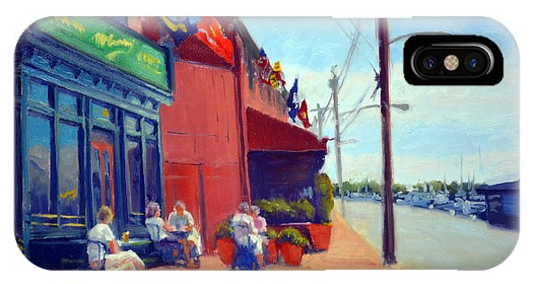Oyster Bar iPhone Case - Outside Mcgarvey's by Armand Cabrera