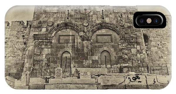 Outside The Eastern Gate Old City Jerusalem IPhone Case