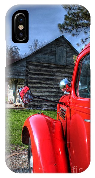 Outside The Old Log Cabin IPhone Case