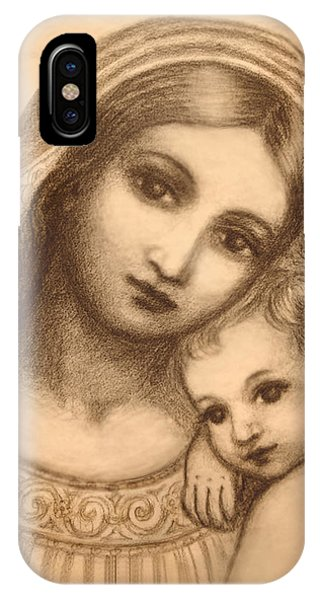 Oval Madonna Drawing IPhone Case