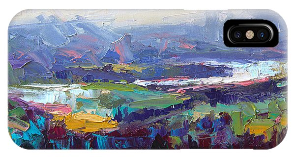 Overlook Abstract Landscape IPhone Case