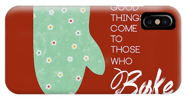 Kitchen iPhone Case - Oven Mitt With Red by Nancy Ingersoll
