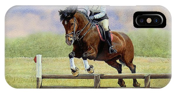 iPhone Case - Over The First Hurdle by Anthony Forster