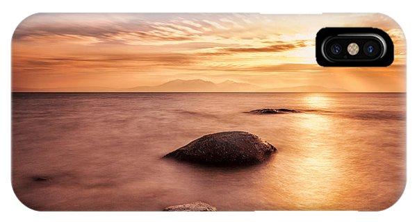 Beautiful Scotland iPhone Case - Over The Sea To Arran by John Farnan
